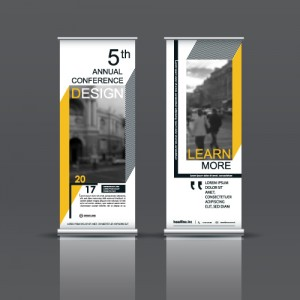 Large Standing Conference Banners are an example of Large Format Printing done by PDC Graphics.