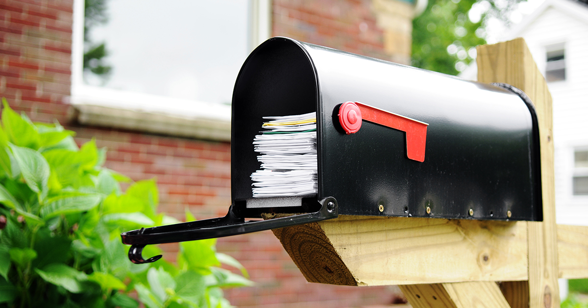 Full Mailbox Direct Mail