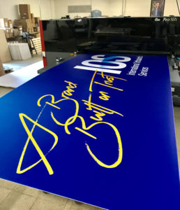 Example of large format printing