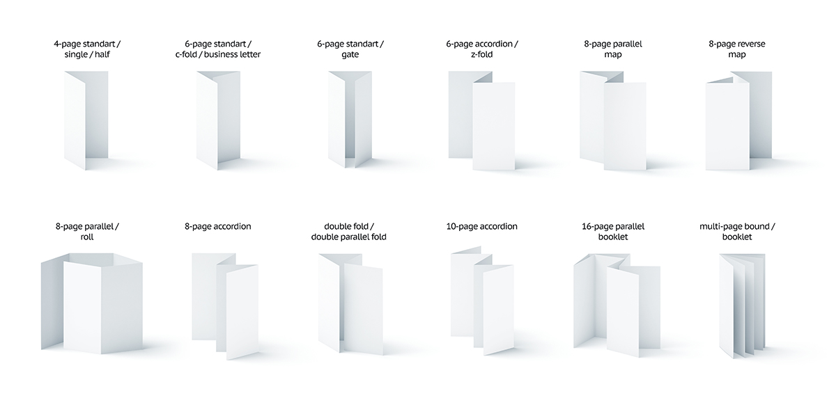 Blank brochure styles