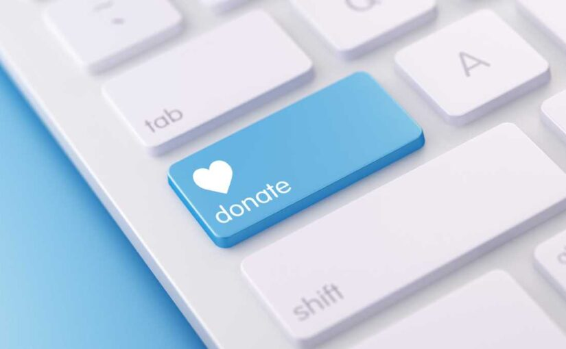donate button on computer